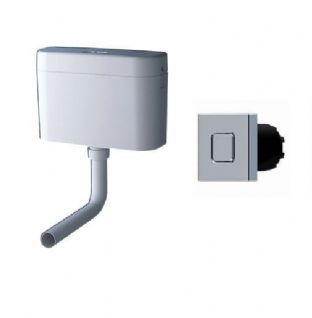 Grohe Adagio Cistern and Square Cosmo Push Button Pack